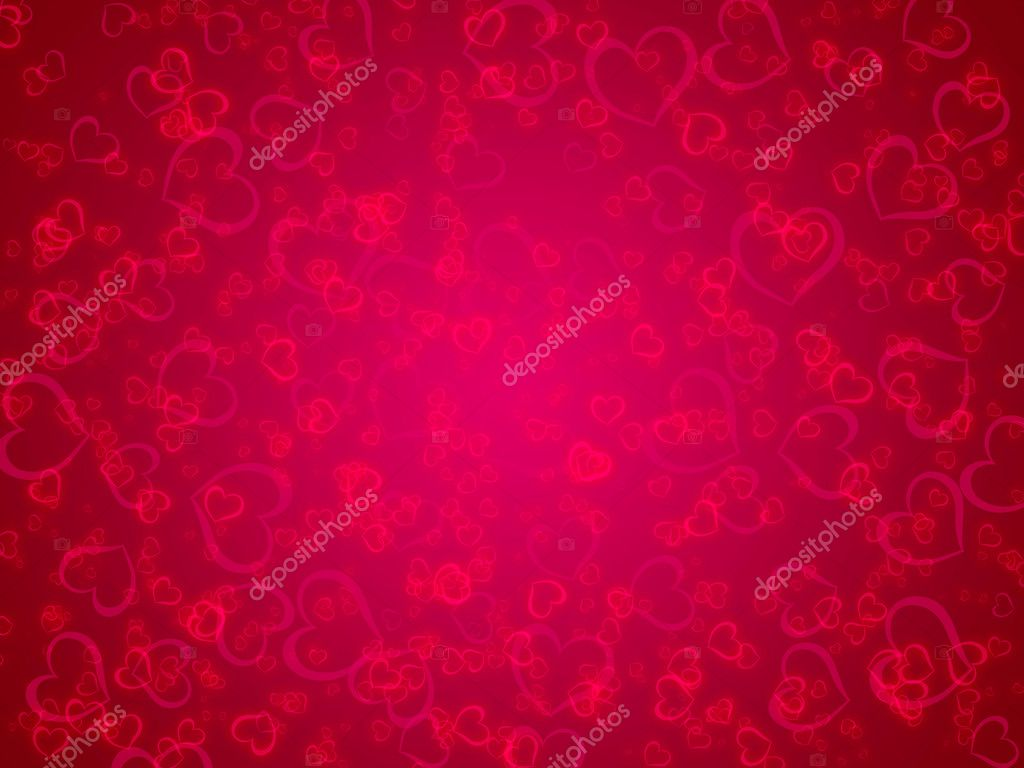 Valentines day background with hearts  — Stock Photo #8596130