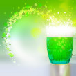 Stock Photo: Green beer for St Patrick day
