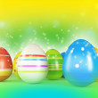 Easter eggs and chickens — Stock Photo #8761215