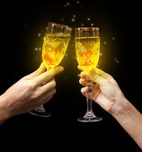 Toast champagne glass — Stock Photo