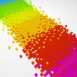 Gradient color pixel mosaic background  (3d HD render) - Stock Photo