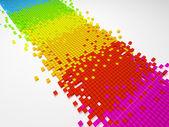 Gradient color pixel mosaic background (3d HD render) — Stock Photo
