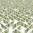 Stock Photo: Financial Maze Labyrinth made of 100 usd banknotes. High resolution 3D rendering.