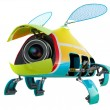 Stock Photo: Fly webcams (security cameras)