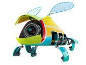 Fly webcams (security cameras) — Stock Photo