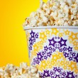 Large bucket of popcorn — Stock Photo