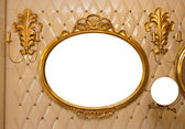 Luxury vintage mirror isolated inside — Stock Photo