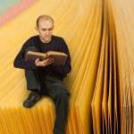 Man reading book — Stock Photo #8060010