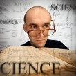 Pensive scientific mathematician - Stock Photo