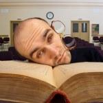 Exhausted sleepy student — Stock Photo #8060056