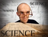 Pensive scientific mathematician — Stock Photo