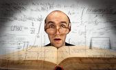 Surprised scientific mathematician — Stock Photo