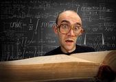 Estudante nerd surpreso — Foto Stock