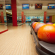 Interior of vintage bowling hall — Stock Photo #8681837