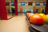 Interior of vintage bowling hall — 图库照片