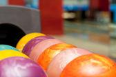Colorful bowling balls — Stock Photo