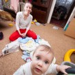 Baby escaping from crazy mother — Stockfoto #9537971