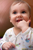 Shy baby girl — Stock Photo