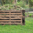 Stock Photo: Wooden composter