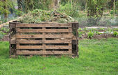 Wooden composter — Stock Photo