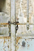 Gate closed by a chain — Stock Photo
