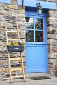 Blue door came — Stock Photo