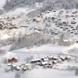 Village in winter landscape — Stock Photo
