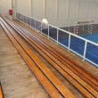 Wooden grandstands — Stock Photo