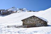 Barn in winter — Stock Photo