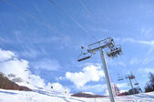 Chairlifts in winter — Stock Photo