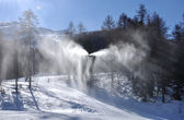 Snowmaking — Stock Photo