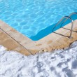 Outdoor pool in winter — Stock Photo #9345599