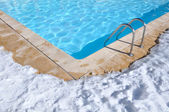 Outdoor pool in winter — Stock Photo
