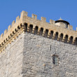 Battlements of a square tower — Stock Photo
