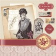 Vintage romantic vector elements - Imagen vectorial