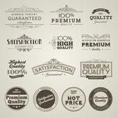 Vintage gestileerd premie kwaliteitslabels — Stockvector