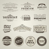 Vintage Styled Premium Quality labels — Stock Vector
