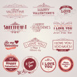 Set of vintage Valentine's day labels — Stock Vector