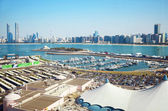 Panoramic view of Abu Dhabi, UAE — Stock Photo