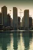 Dubai city at sunset — Stock fotografie