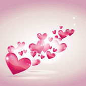 Valentine's day or wedding card and background — Wektor stockowy