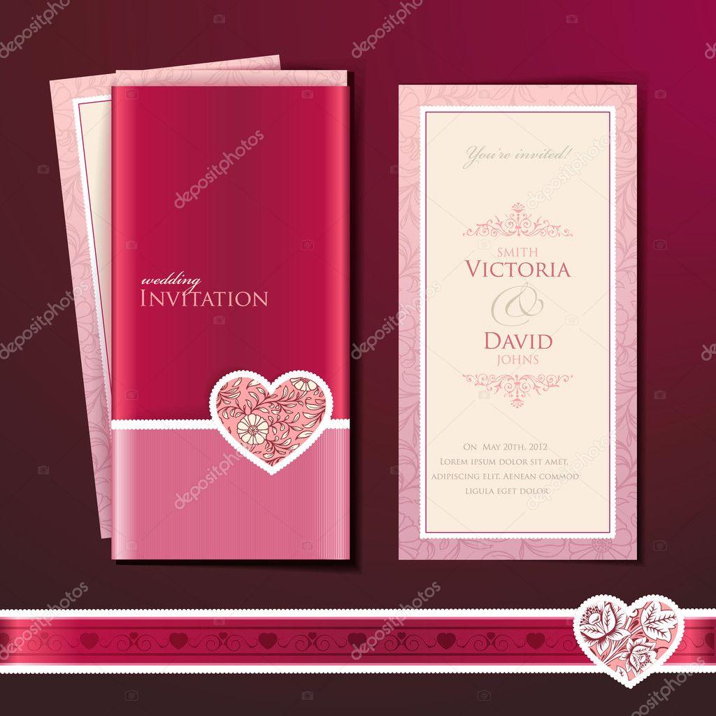 Wedding invitation card Vector tanjakrstevska 8561831 – Download Invitation Card