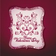 Valentine's day card vector template — Stock Vector