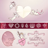 Set of love vector elements — Stock Vector