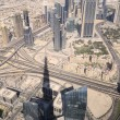 Dubai city, view from Burj Khalifa, UAE — Stock Photo