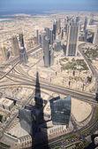 Dubai city, view from Burj Khalifa, UAE — Stock Photo