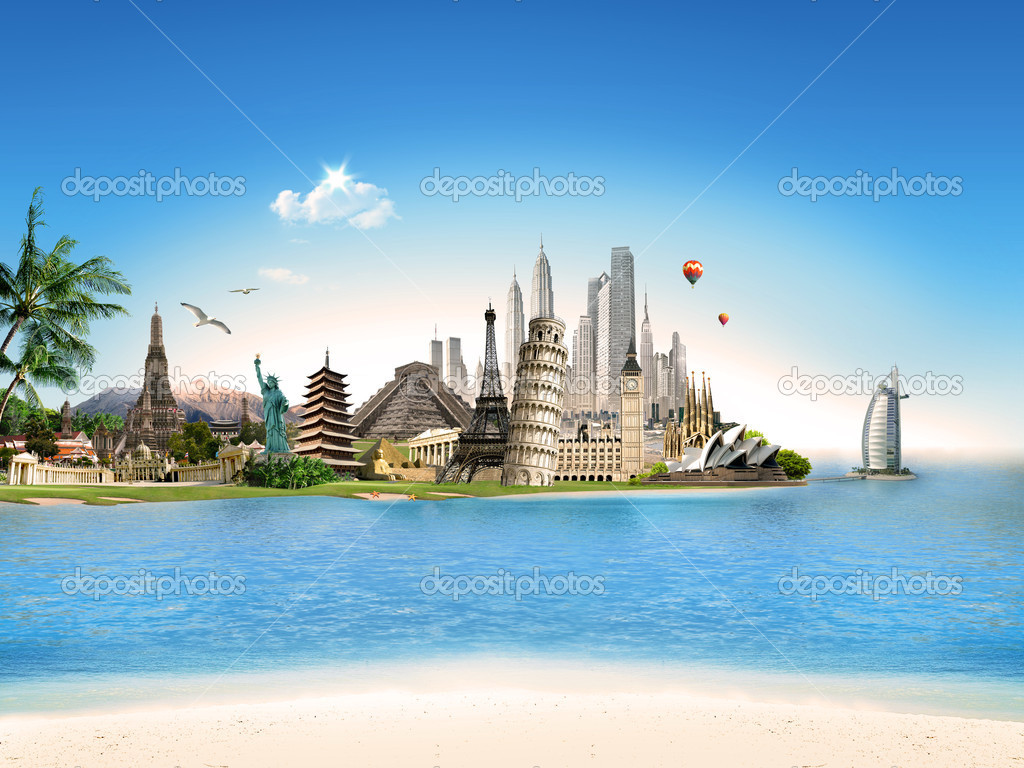 Tourism travel all around the world stock photo for All around the world cruise