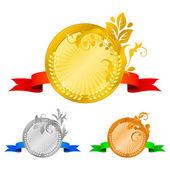 Medals set 4 — Stock Vector
