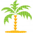 Patchwork palm tree. — Stock Vector #10576529