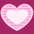 Vector de stock : Card with applique heart.